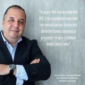 A pesar del sectarismo del @partidoPCC y su asamblea nacional no renunciamos a nuestros derechos como cubanos a proponer lo que creemos mejor para Cuba.
